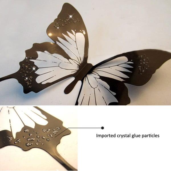 Zestaw 18 naklejek 3D Ambiance Butterflies Chic