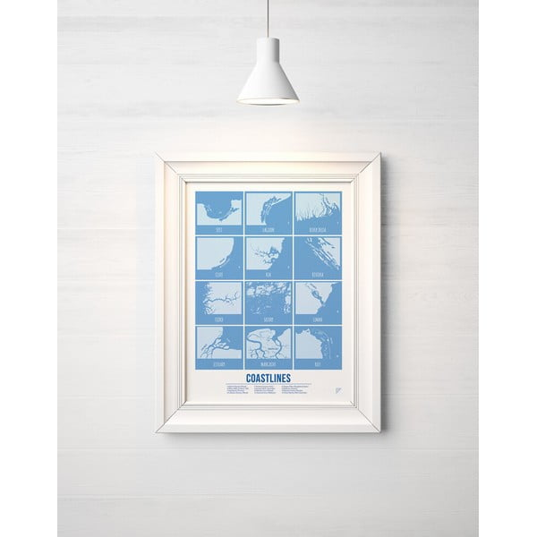 Plakat Follygraph Coastlines, 30x40cm