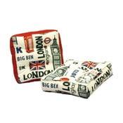 Zestaw 2 poduszek do siedzenia z czerwonymi szczegółami 13Casa London