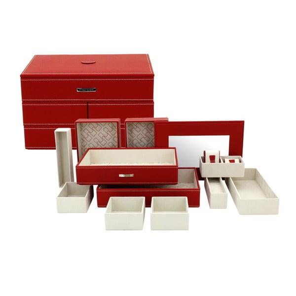 Szkatułka na biżuterię Module Red, 30x21x18 cm