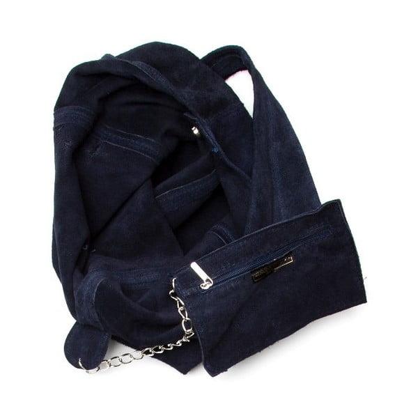 Granatowa torebka skórzana Roberta M 885 Blu