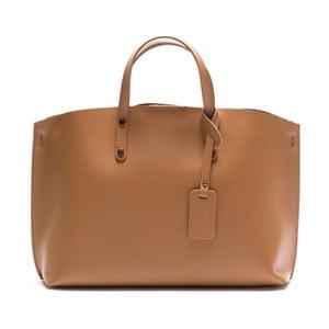 Skórzana torebka Luisa Vannini 3034 Cognac
