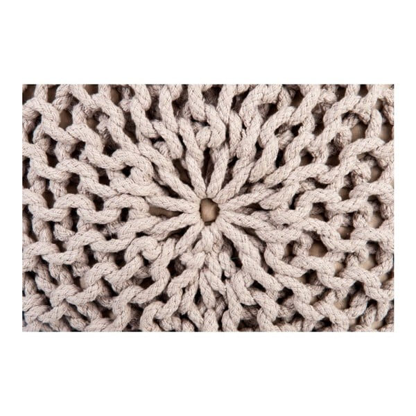 Puf Knitted Taupe, 35x50 cm