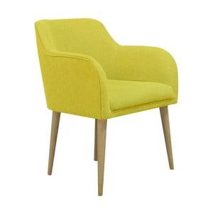 Żółty fotel Helga Interiors Matt