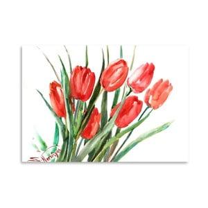 Plakat Red Tulips (projekt Suren Nersisyan)
