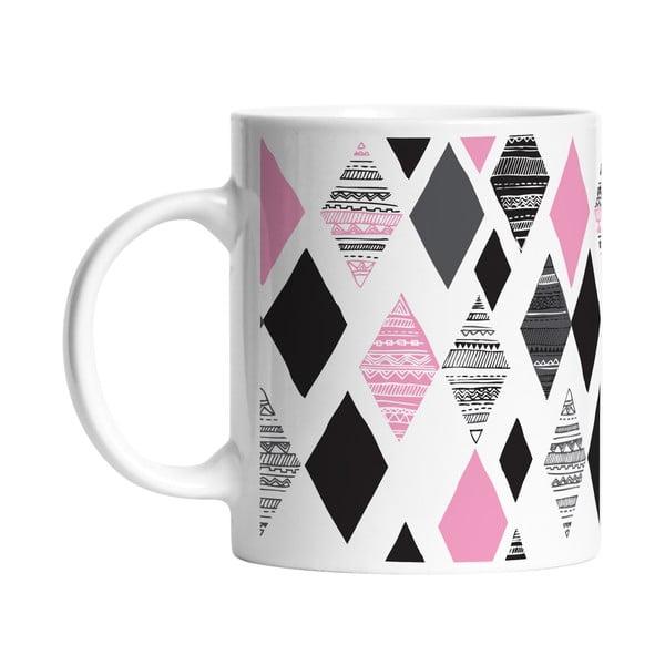 Ceramiczny kubek Pink Diamond, 330 ml