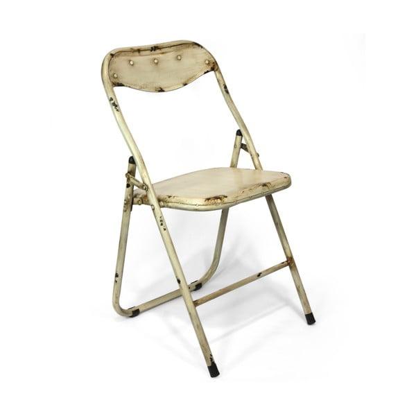 Składane krzesło Harrison, kremowe