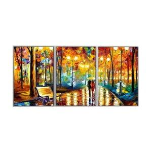 Trzyczęściowy obraz Art Park, 45x90 cm