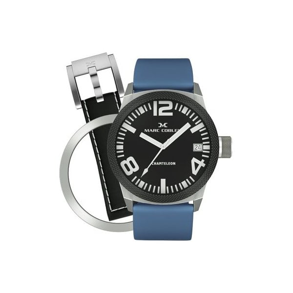 Zegarek unisex Marc Coblen z dodatkowym paskiem i obręczą P10