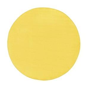 Żółty dywan Hanse Home, Ø 133 cm