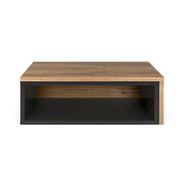 Czarny stolik rozkładany TemaHome Jazz Walnut Black