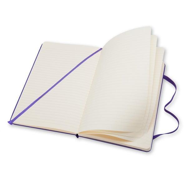 Fioletowy notatnik Moleskine Hard, w linię