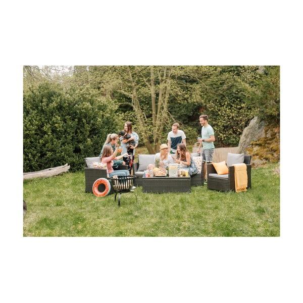 Zestaw mebli ogrodowych ze sztucznego rattanu Timpana Dion