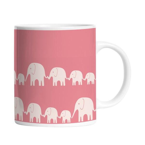 Ceramiczny kubek Elephant Family, 330 ml