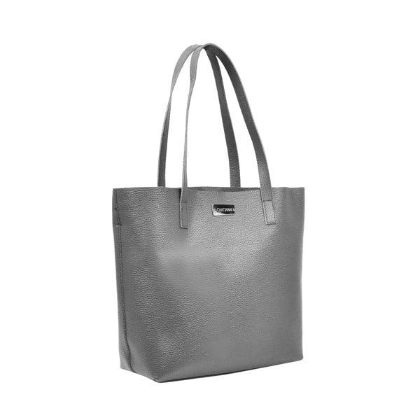 Skórzana torebka Amande, ciemnoszary