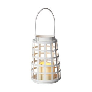 Biały lampion LED Best Season Petula