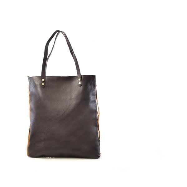 Skórzana torebka Michelle, kolor wielbłądzi