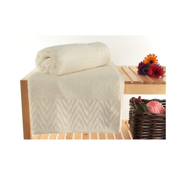 Zestaw 2 ręczników Kalp Ecru, 90x150 cm