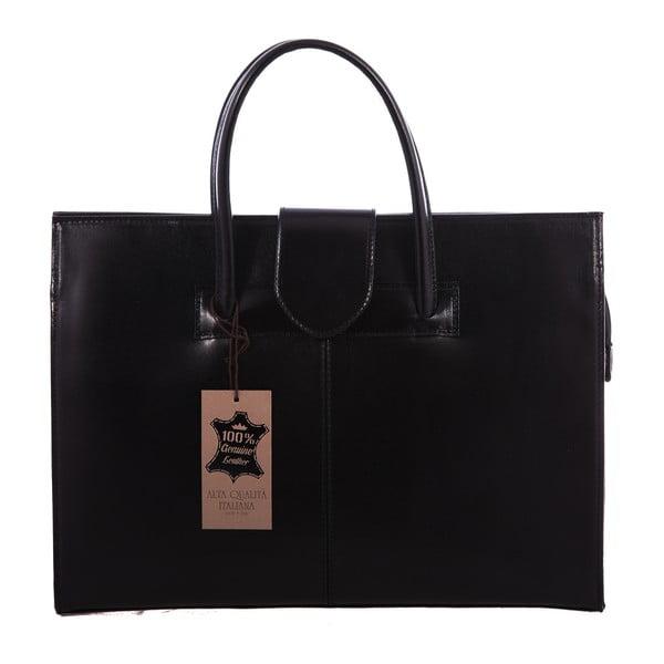Czarna skórzana torba Paola