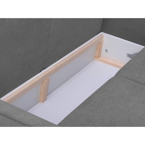 Jasnoszara 3-osobowa sofa rozkładana ze schowkiem Windsor & Co Sofas Casiopeia