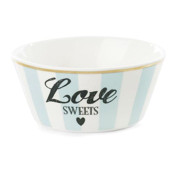 Miska ceramiczna Miss Étoile Love Sweets Stripe Turquoise