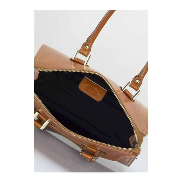 Koniakowo-brązowa torebka skórzana Lisa Minardi Calf