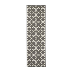 Szary chodnik z białymi elementami Hanse Home Joanne, 80x200 cm