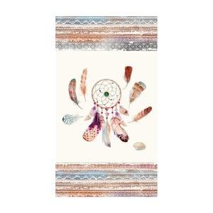 Ręcznik plażowy z nadrukiem Good Morning Feathers, 100x180 cm