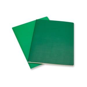 Zestaw 2 zielonych notesów w linie Moleskine Volant