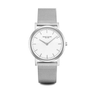 Zegarek damski w kolorze srebra z białym cyferblatem Eastside East Village