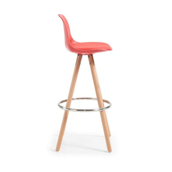Krzesło barowe Stag, czerwone