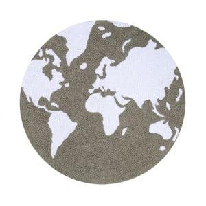 Szary dywan bawełniany Happy Decor Kids Map, ⌀120cm
