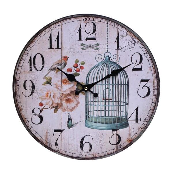 Zegar naścienny Vintage Cage, 33,8 cm