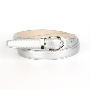 Pasek skórzany damski 13TS Silver, 80 cm
