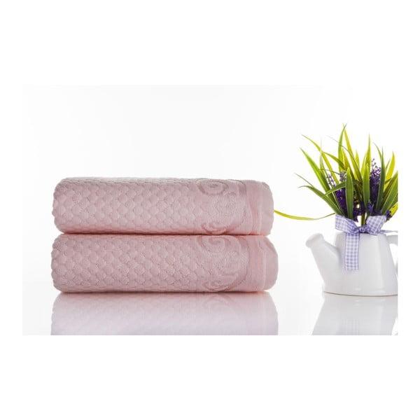 Zestaw 2 ręczników Acustic Light Powder, 50x90 cm