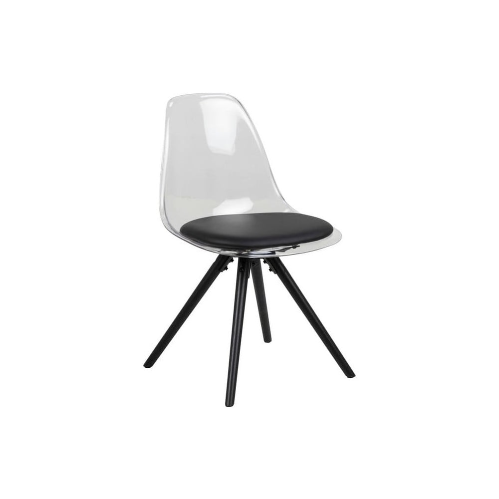 Czarne krzesło z konstrukcją z drewna dębowego Actona Henning