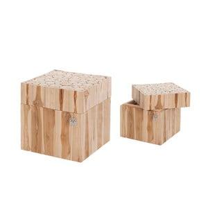 Zestaw 2 drewnianych pudełek