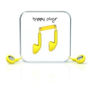 Słuchawki Happy Plugs, żółte