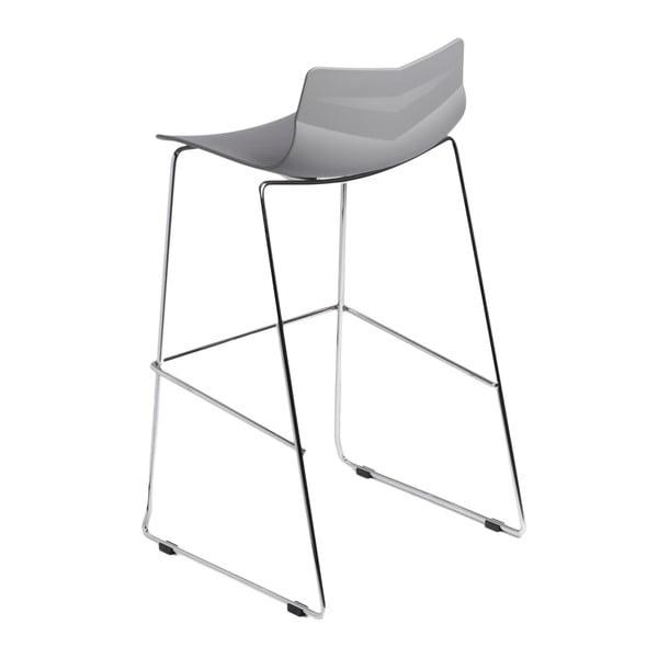 Krzesło barowe D2 Leaf, szare