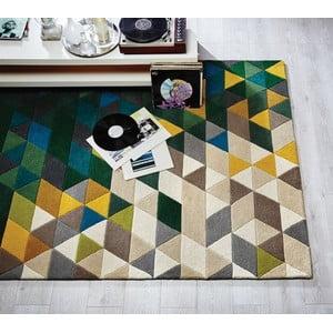 Zielony dywan wełniany Flair Rugs Prism, 80x150 cm