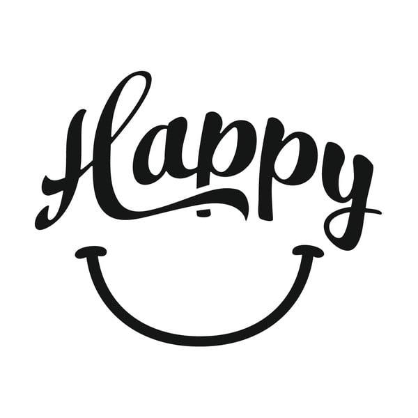 Naklejka dekoracyjna Happy