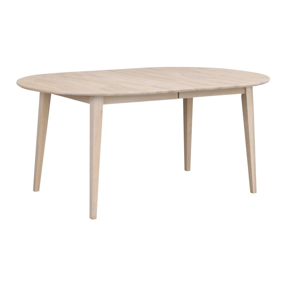 Jasny owalny stół rozkładany z drewna dębowego Rowico Mimi, 170 x 105 cm