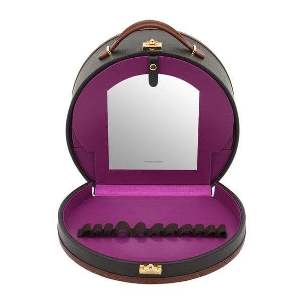 Brązowa szkatułka/kuferek na kosmetyki Friedrich Lederwaren Ascot