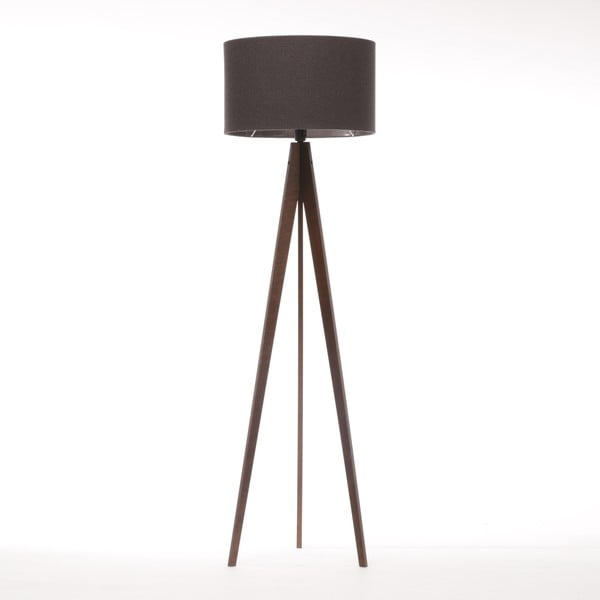 Lampa stojąca Artist Dark Grey Felt/Dark Brown, 125x42 cm