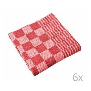 Komplet 6 czerwonych ścierek Tiseco Home Studio Mineur, 65x65 cm