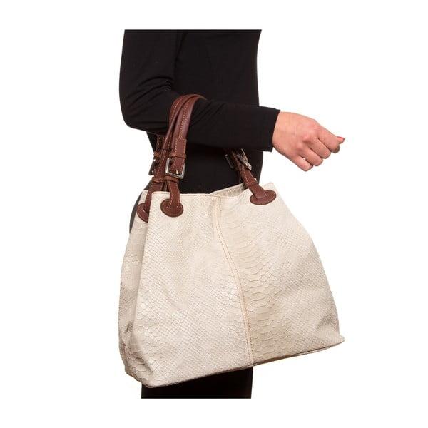 Skórzana torebka Luisa Vanini 841 Beige