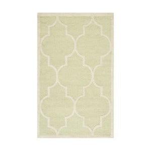 Wełniany dywan Everly Light Green, 91x152 cm