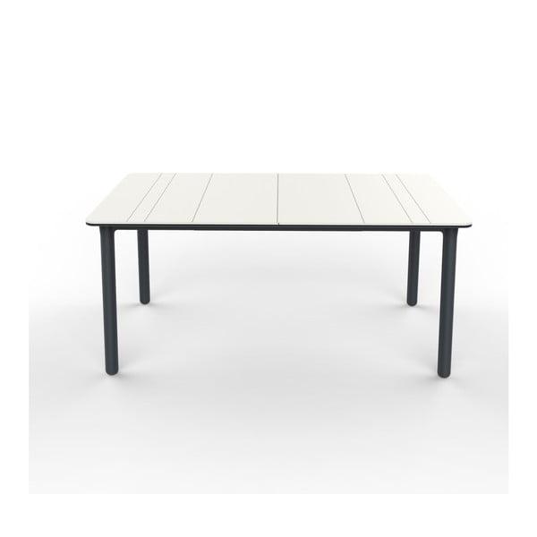 Szaro-biały stół ogrodowy Resol NOA, 160x90cm
