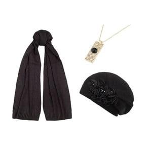 Zestaw czapki, szalika i naszyjnika Lavaii Lola