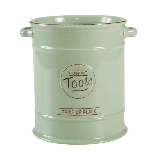Zielony pojemnik porcelanowy na akcesoria kuchenne T&G Woodware Pride of Place